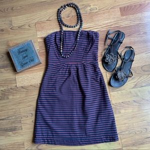 FOSSIL Navy Blue fully Lined Strapless Dress XS